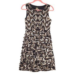 Taylor Layered Fitted Sleeveless Dress Size 2